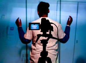 idiscover workshop - young person in front of a camera
