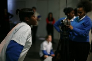 young people participating in an idiscover workshop